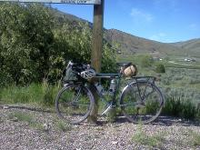 Photo of my touring bike along the route.