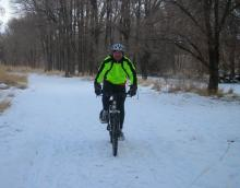Korey joins me for some winter riding.